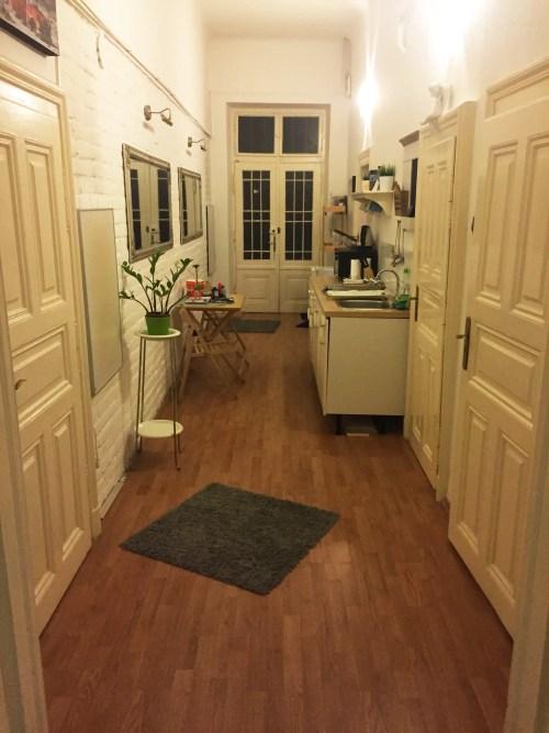 Hallway airbnb Budapest Hungary