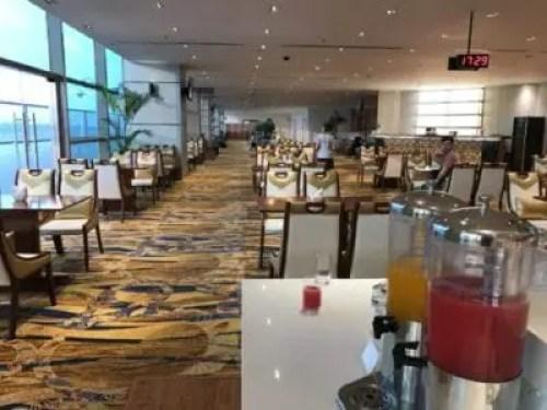 The lounge at Yangon International Airport