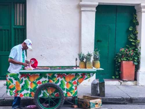 Pineapple street vendor cartagena colombia