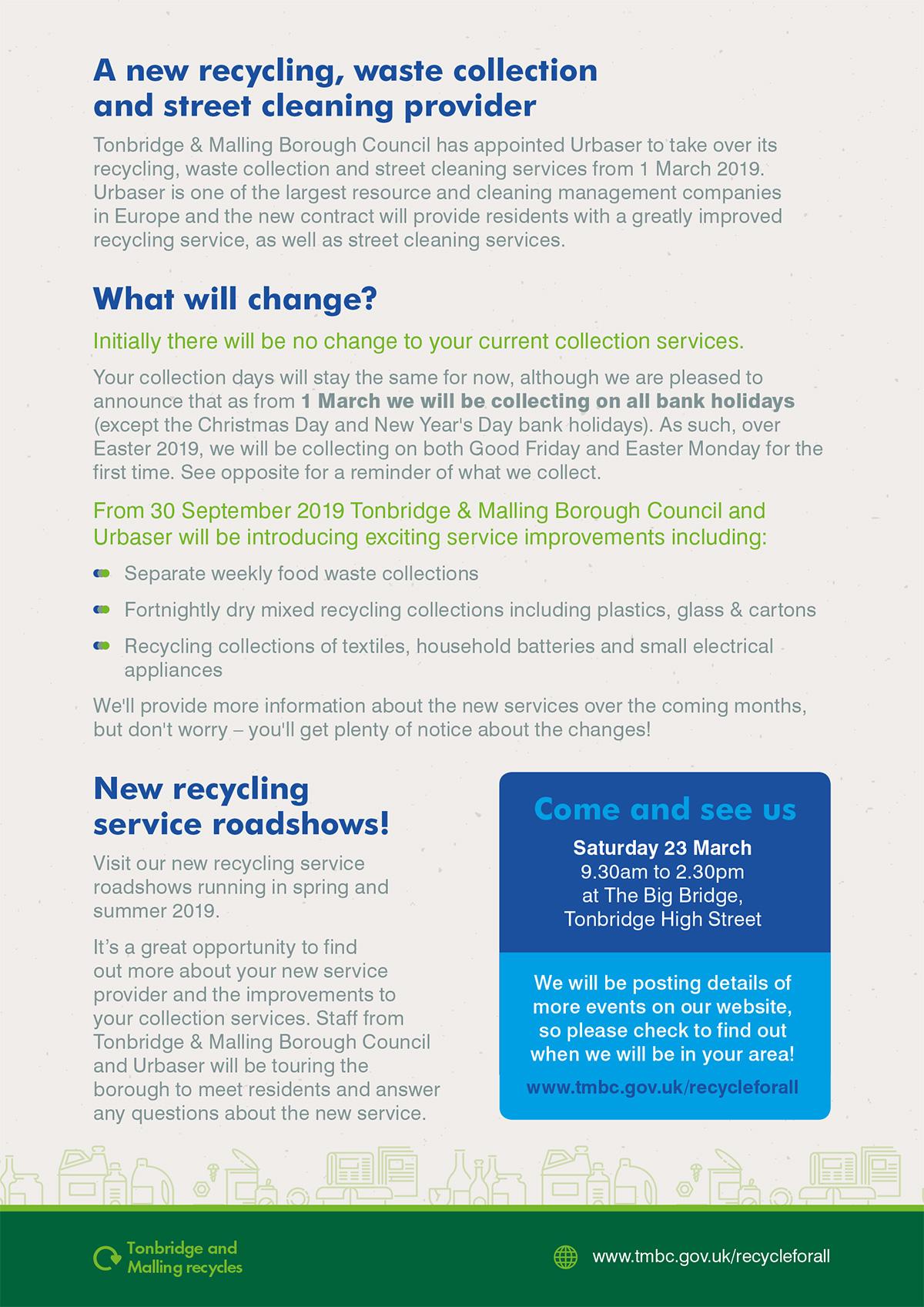 Urbaser Tonbridge Waste Provider - Text version follows images