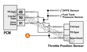Part 1 Testing the Throttle Position Sensor Circuits (Ford 46L, 54L)