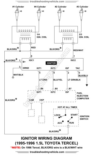 Ignitor Wiring Diagram 19951996 15L Toyota Tercel