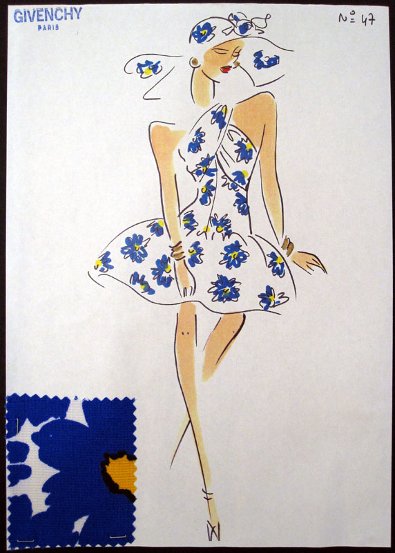 hubert de givenchy sketch 80's