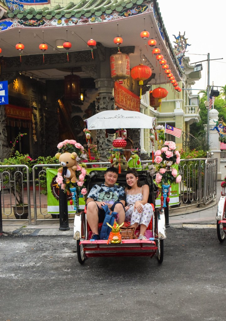 Trishaw tour in George Town – Day 5 in Malaysia