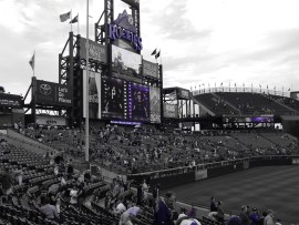 Coors Field, perfect weather in August