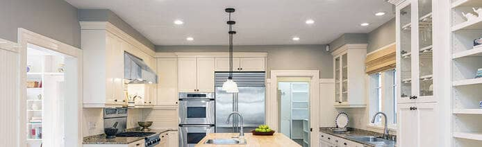 New Lighting in a Renovated Kitchen