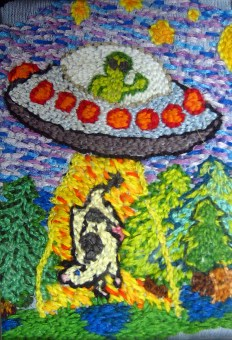 Detail of embroidery by Jemma Woolidge