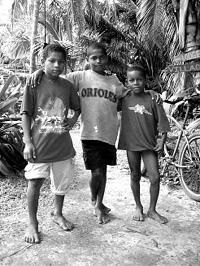 Young Nicaraguan bait fishermen