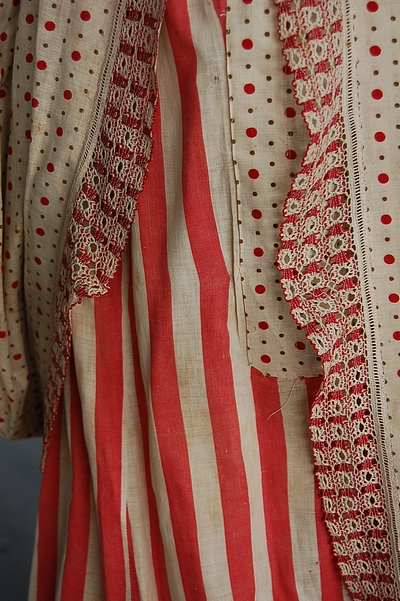Dress 1876 calico printed cotton Kerry Taylor 2
