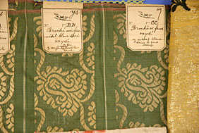 fabric samples 18th century Augusta auctions