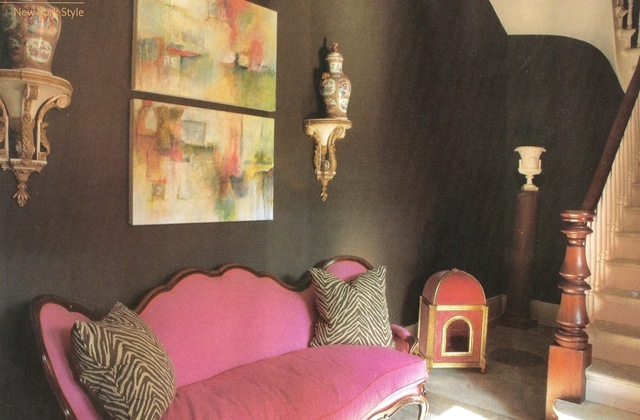 magenta couch Bayou Contessa