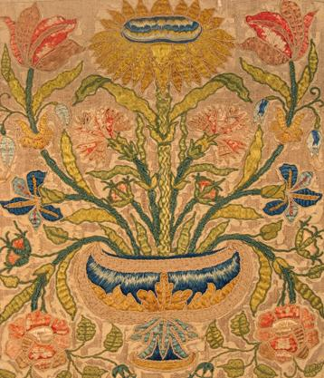 Embroidered panel 17thcentury augustaauctions