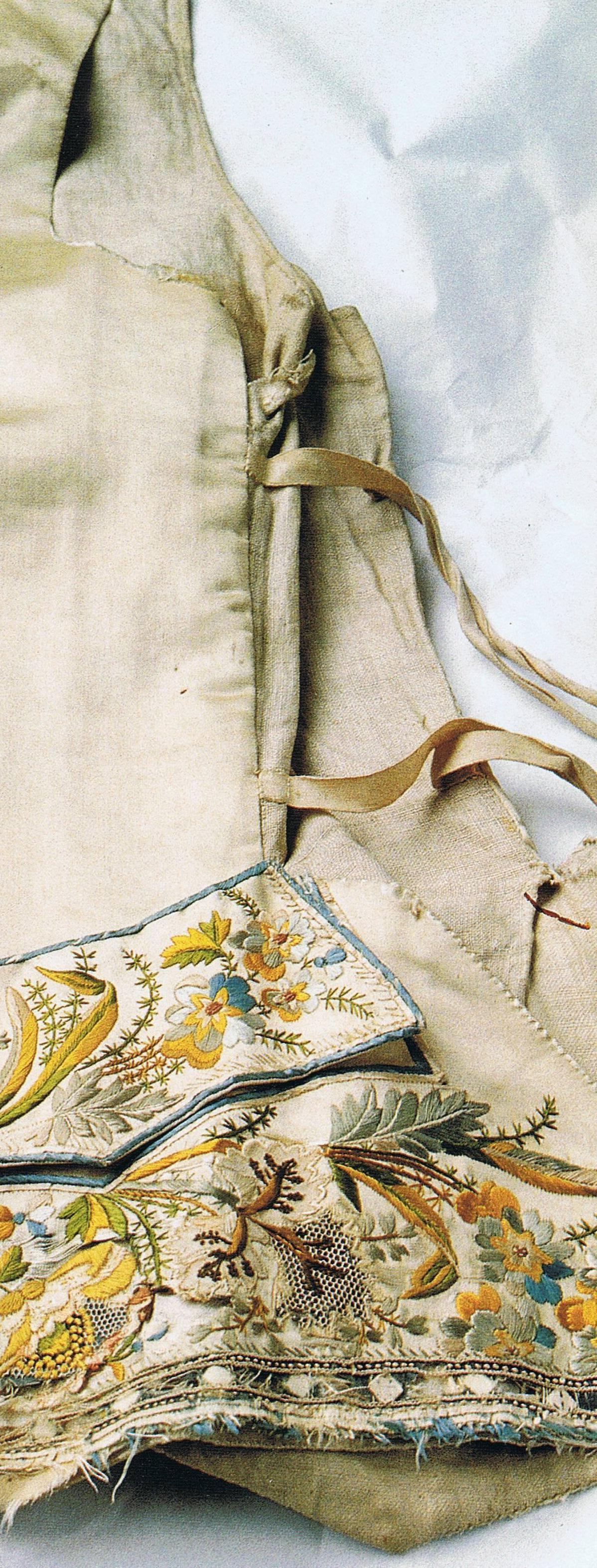 Embroidered vest mid to late 18th Silk