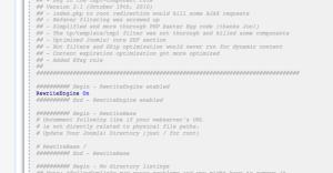 Configurazioni del file .htaccess su Apache (mod_rewrite ed altro)