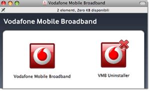 Come disinstallare il software Vodafone Mobile Broadband su Mac