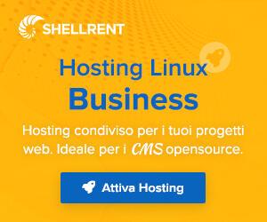 Dettagli offerta: Hosting Linux Business Shellrent