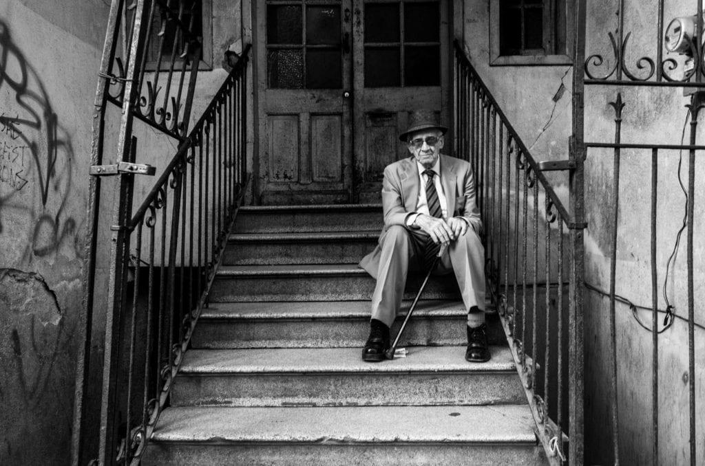 Black White Street Portrait
