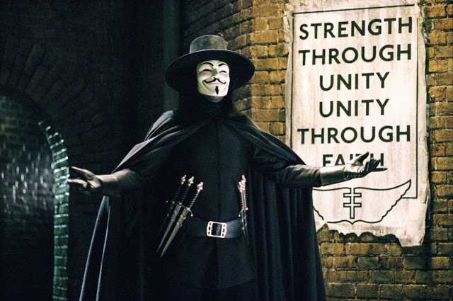 V For Vendetta - The 20 Best Superhero Movies Of All Time