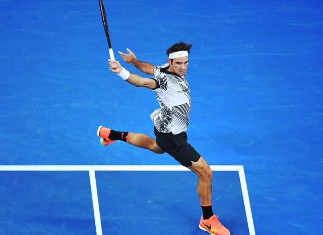 Roger Federer has been going after the return, especially on the backhand side