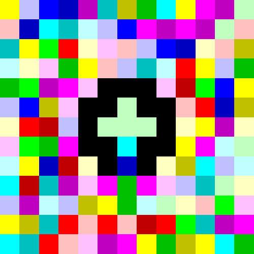 Piet - Top 20 Strangest Programming Languages - Hello World program
