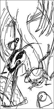 Heron Sketch Image