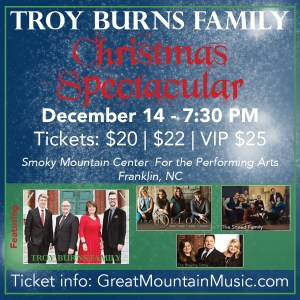 """Troy Burns Family """"Christmas Spectacular"""" @ Smoky Mountain Center for the Performing Arts 