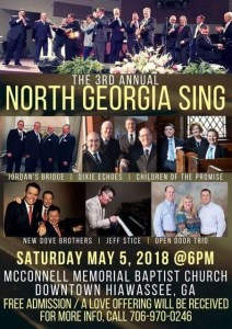 TBF @ 3rd Annual North Georgia Sing @ McConnell Memorial Baptist Church