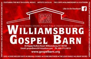 TBF @ The Gospel Barn @ Williamsburg Gospel Barn | Williamsburg | Kentucky | United States