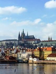 Hradčany, Castle District, and the Vltava River, Prague Czech Republic