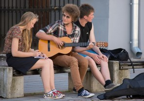 guitarist and friends, Tartu Estonia