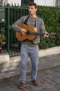 busking in Monmartre, Paris France