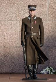 solider on guard duty, Brīvības piemineklis, Riga Latvia