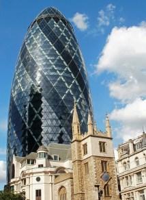 old and new, The Gerhkin, London U.K.