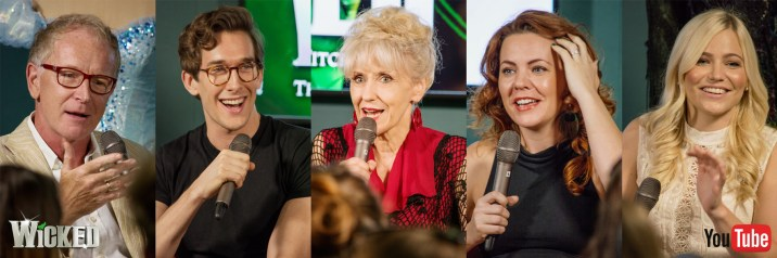 Members of the principle cast appearing at the Wicked UK forum panel on Tuesday Sept 13 for YouTube Space London
