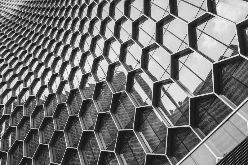 architectural photography of glass buliding