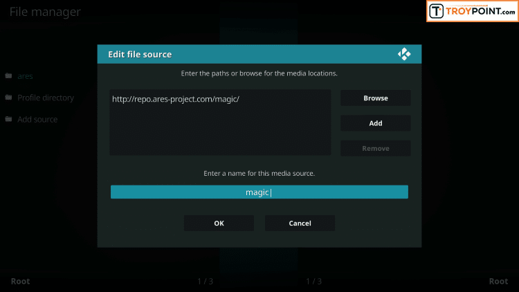 Rename Kodi media source