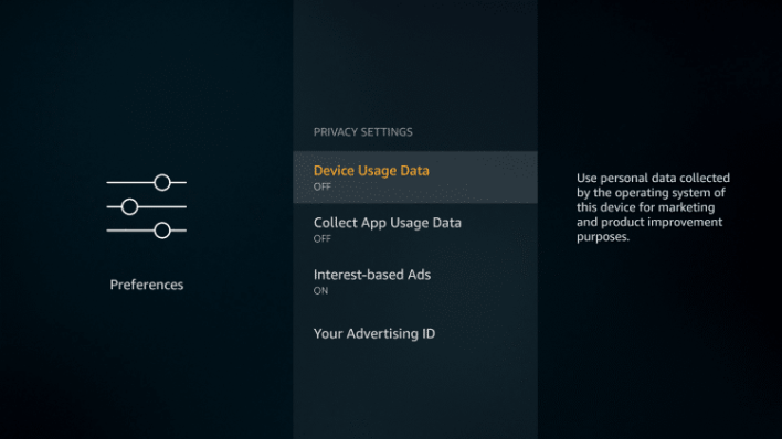 Change privacy settings on Amazon Firestick