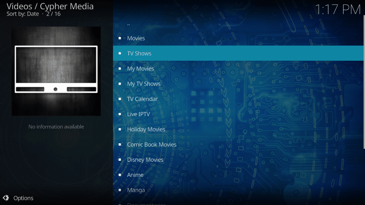 For these reasons and more Cypher Media is one of TROYPOINT's Best Kodi Add-ons available today.