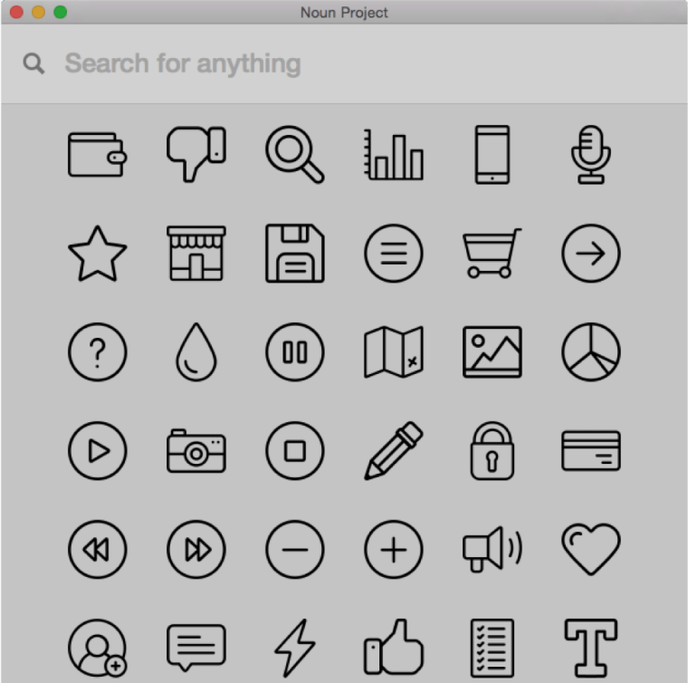 examples of Noun Project icons