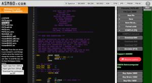 ASM80 with PATB screenshot