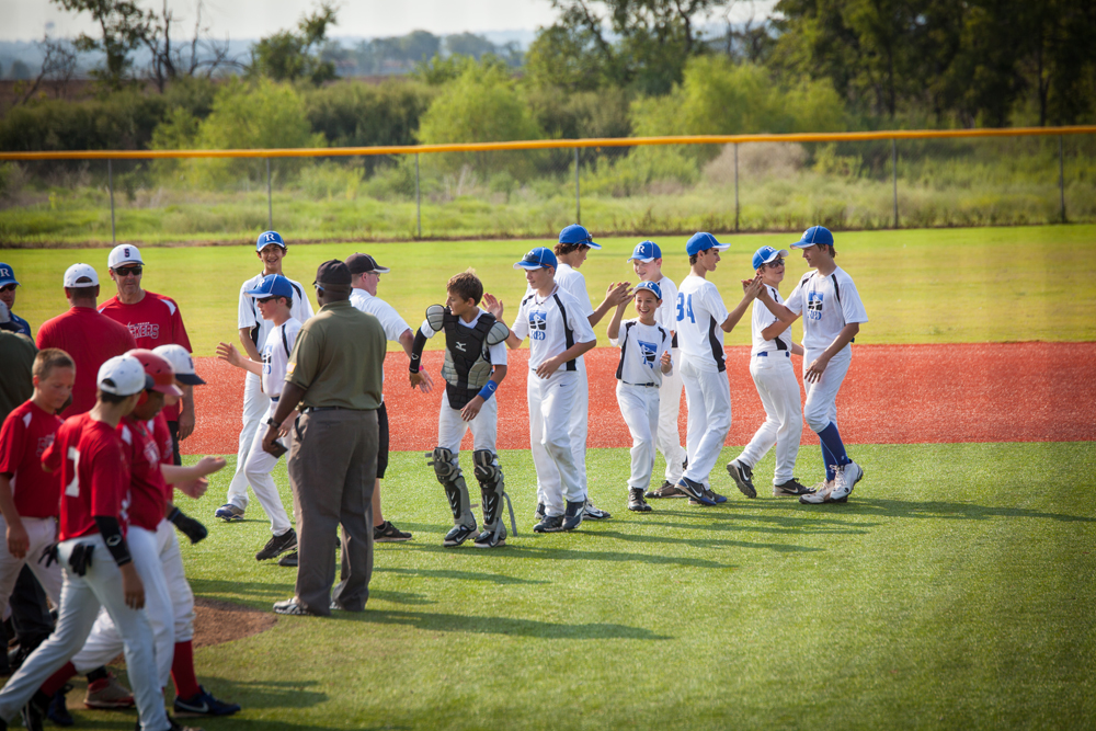 10U TRPD team shaking hands - Enjoying his Team Experience