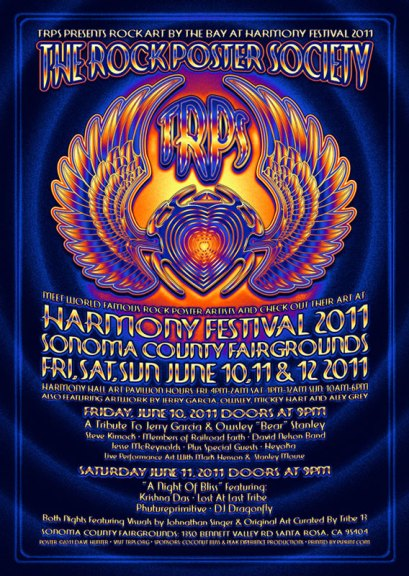Harmony Festival 2011 poster by Dave Hunter