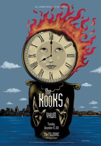 The Kooks at the Fillmore poster John Mavroudis