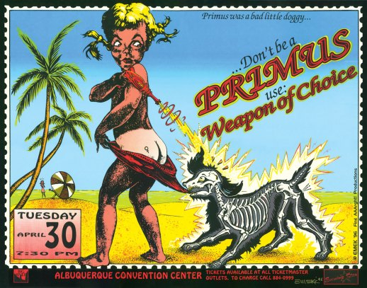 Primus at Albu­querque poster by EMEK, 1996