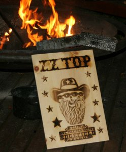 ZZ Top at Edgefield poster by EMEK, 2012