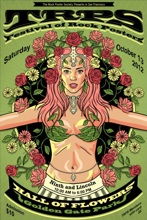 TRPS Festival of Rock Posters 2012, poster design by Derek Johnson