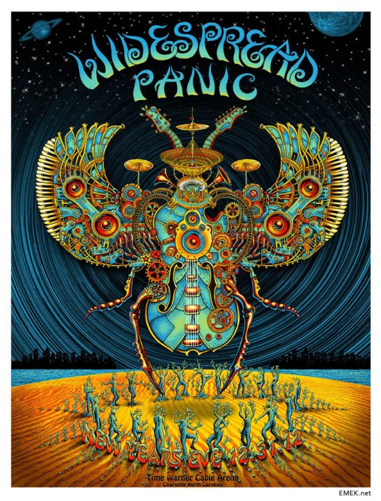 Widespread Panic rock poster by EMEK