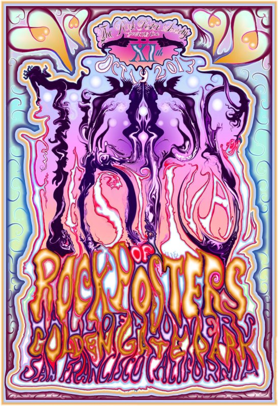 Festival of Rock Posters 2013 by Lee Conklin