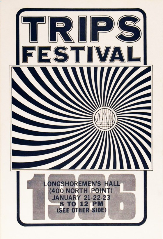 Trips Festival 1966 poster Wes Wilson