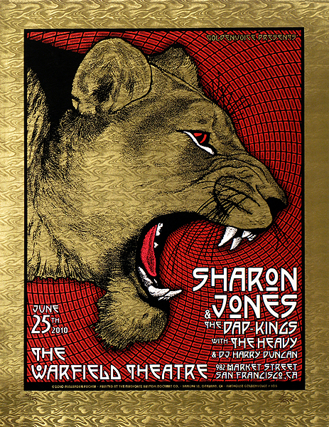 Sharon Jones at the Warfield, 2010, by Alexandra Fischer